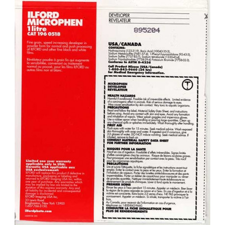 Revelador Ilford Microphen 1litro