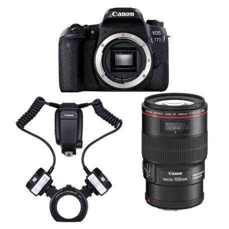 Kit Canon 77D dental100 L-MT